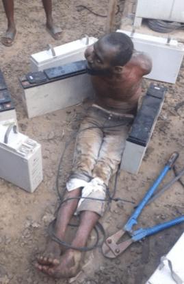 Man caught stealing batteries from a GLO mast