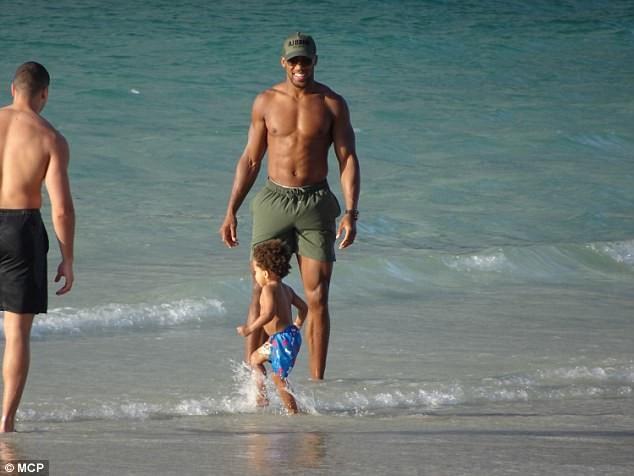 Doting dad! Anthony Joshua enjoys quality time with his son Joseph?(Photos)