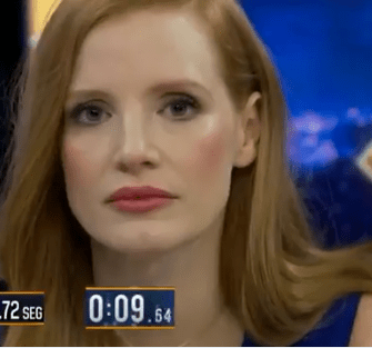 Jessica Chastain broke a really strange record on TV (video)