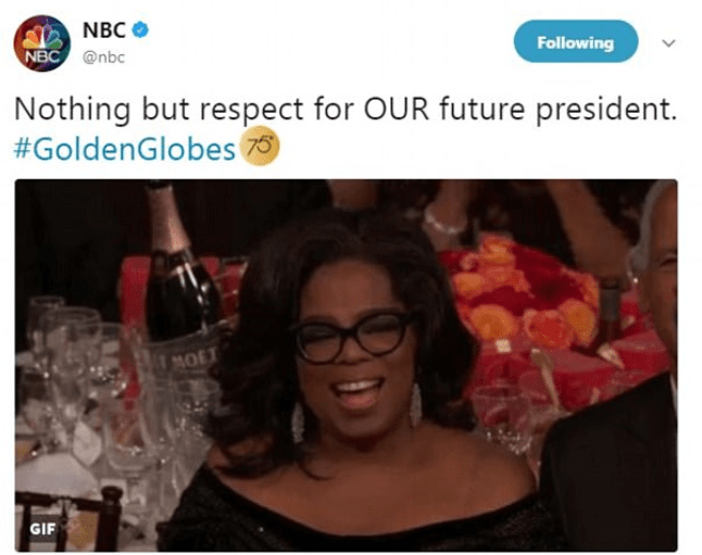 """Oprah for President in 2020"" Overwhelming response greets Oprah"