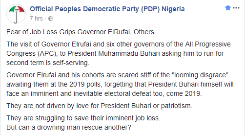 5a5a272d0adc4 - PDP reacts to 7 APC governors endorsing President Buhari for a second term