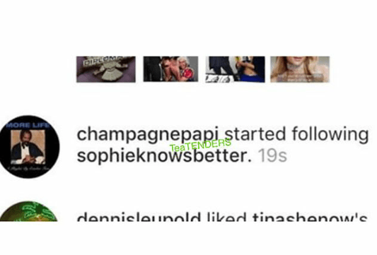 5a5bd3fa92b03 - Drake starts following his alleged baby mama on Instagram