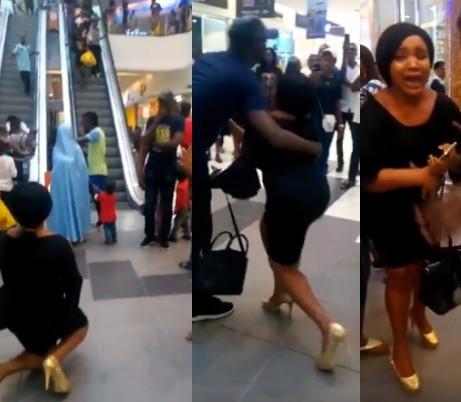 Lady breaks down in tears as her boyfriend rejects her marriage proposal (video)