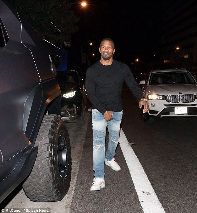 Wow! Jamie Foxx shows off his 500 horsepower Rezvani Tank which costs $350k (Photos/Video)