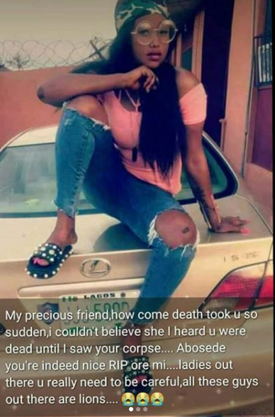 Trending story of a beautiful girl who died after she was allegedly used for rituals by a Yahoo guy