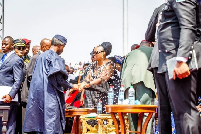 5a66560f063f6 - Photos of Vice President Yemi Osinbajo at the inauguration of Liberia's 24th president, George Weah