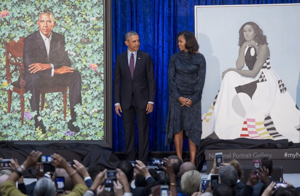 Nigerian artist Kehinde Wiley paints presidential Portrait of Barrack Obama (Photos)