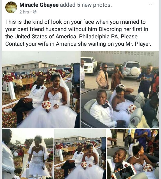 5a8360888a334 - Photos: Chai! President Weah's new Director of Operations gets married to his wife's best friend in Liberia...without divorcing her in the U.S!
