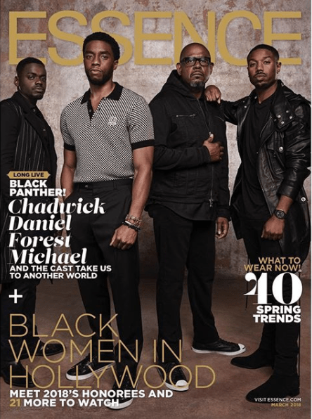 """5a83f8921c91f - """"Black Panther"""" cast cover Essence Magazine's March 2018 issue (photos)"""