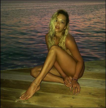 5a841a100894a - Rita Ora poses nude as she relaxes at a beach in Maldives (Photos/Video)