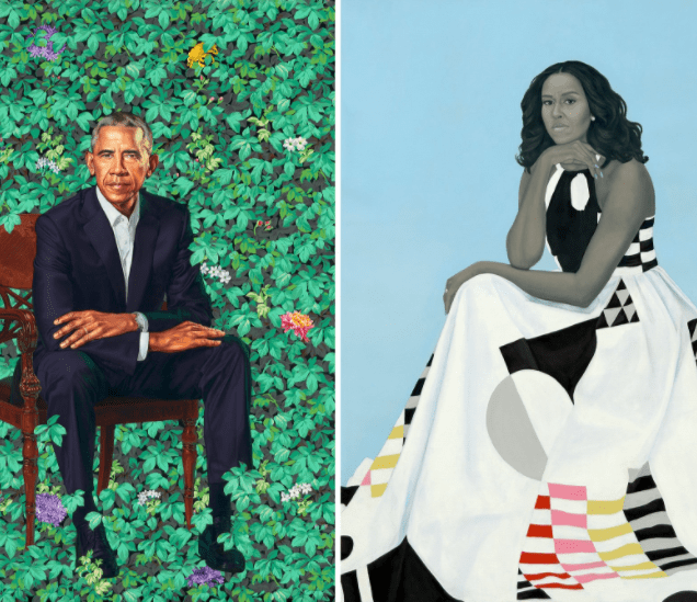 5a842db37b509 - People have strong reactions to Barack and Michelle Obama's portraits