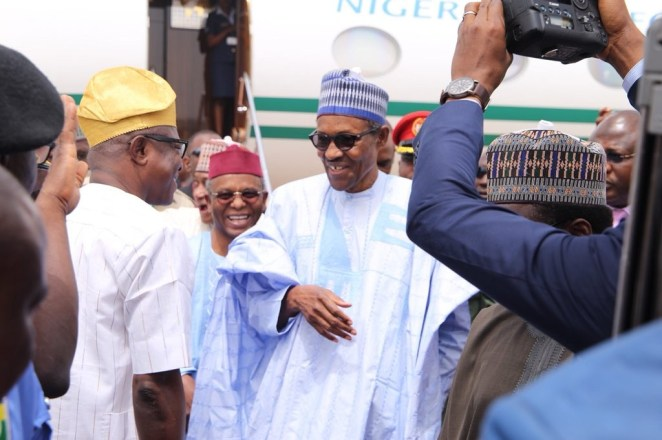 5a85927c6e87b - President Buhari arrives Kaduna to inaugurate a drone constructed by the Nigerian Air Force(photos)