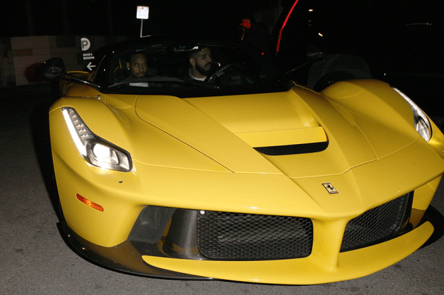 Drake shows off his new $7m Ferrari La Ferrari sports car in LA (Photos)