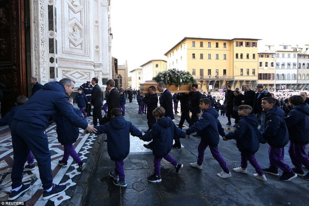 Photos from the funeral of Florentina and Italian footballer Davide Astori, who died in his sleep