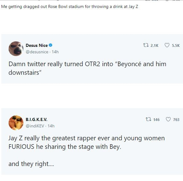 Some Beyoncé fans don't want to see Jay-Z on the 'On the Run II tour'