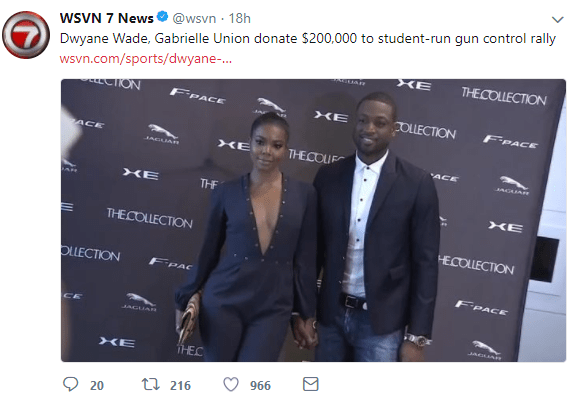 """""""I have a name"""" TV station slammed mercilessly for referring to Gabrielle Union as Dwayne Wade's wife"""