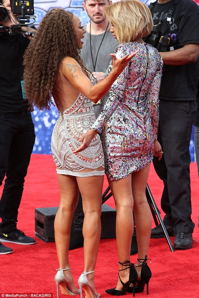 Mel B and her look-alike daughter Phoenix attend the AGT