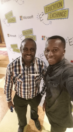 Ghanaian teacher who drew Microsoft word software on the chalkboard  arrives in Singapore for the Microsoft Global Education Exchange Summit.