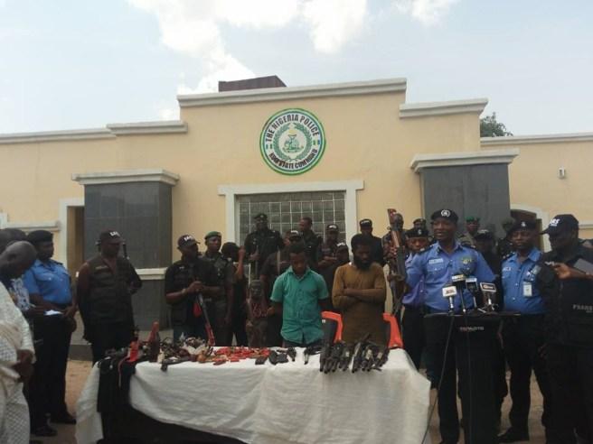 Police parades notorious and vicious political thugs allegedly working for Senator Dino Melaye (Photos)