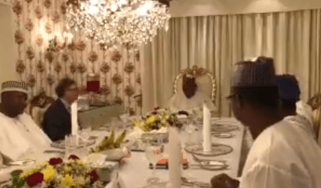 Photos/Video: President Buhari hosts billionaires, Bill Gates and Aliko Dangote in the State House, Abuja