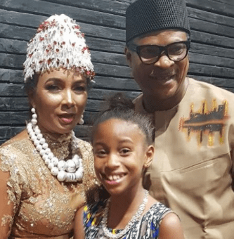 Image result for Ibinabo Fiberesima bears a daughter for fred amata