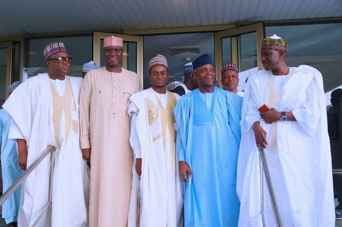 Photos: President Buhari, Osinbajo attend wedding fatiha of Aisha Buhari