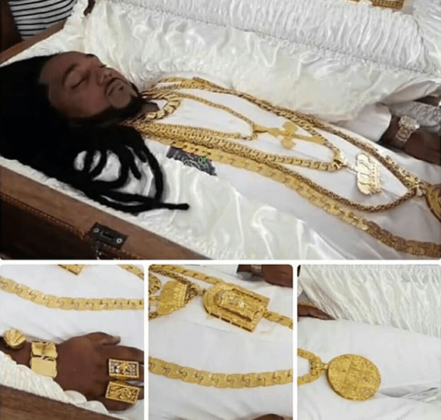 Millionaire Car dealer who was murdered on Monday?buried with $2million worth of Jewelries, his customized Timberland and Bentley (photos)