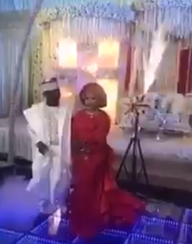 Video: Groom abandons bride on stage after indoor fireworks went off at their reception