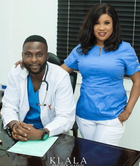 Check out a medical doctor and nurse