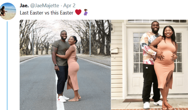 This couple's last Easter vs this Easter will leave a smile on your face (photos)