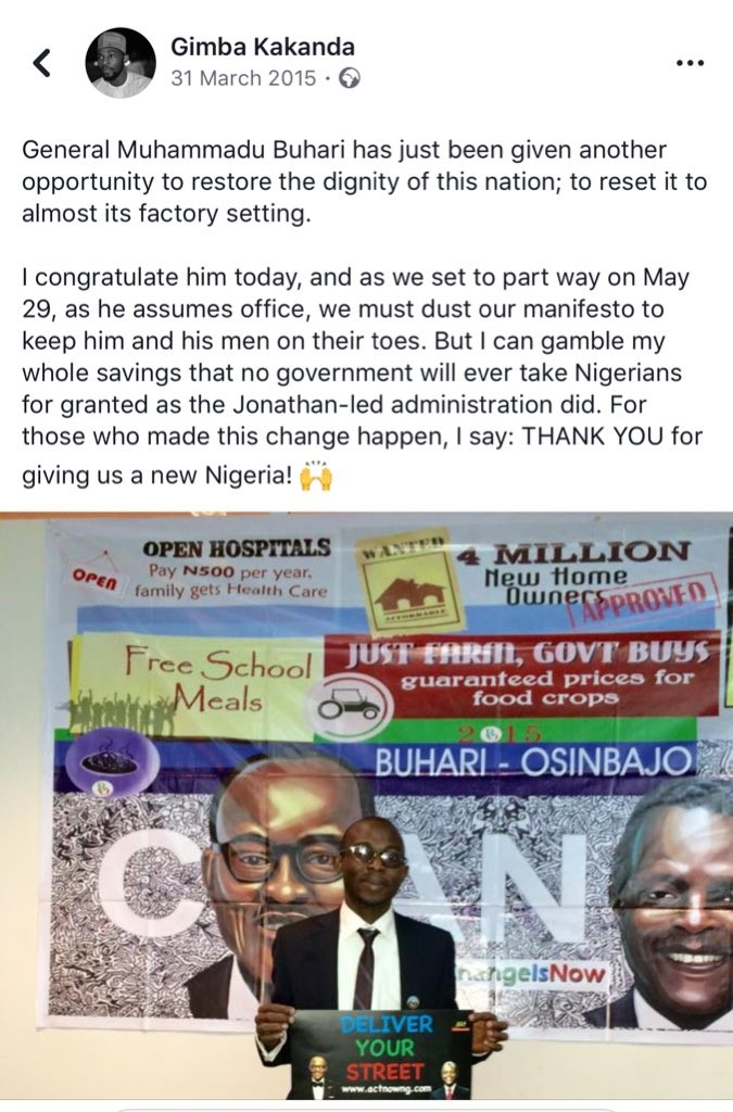 Staunch President Buhari supporter regrets ever believing this government will be better than GEJ