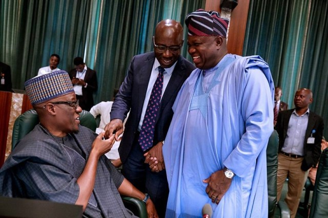 Photos: President Buhari holds closed door meeting with APC governors