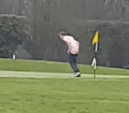 TF? Man filmed having sex with flag pole on gulf course (video)