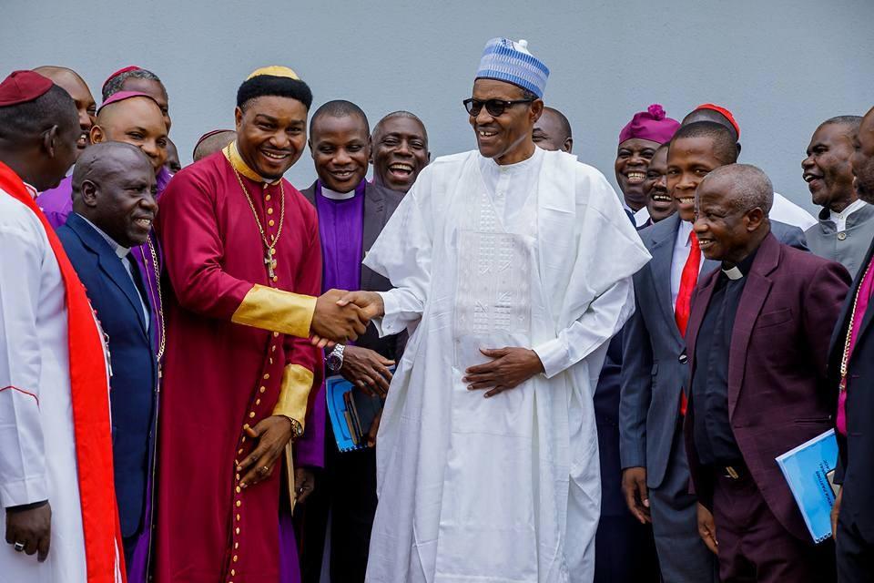 Photos: President Buhari receives Arewa Pastors in Abuja
