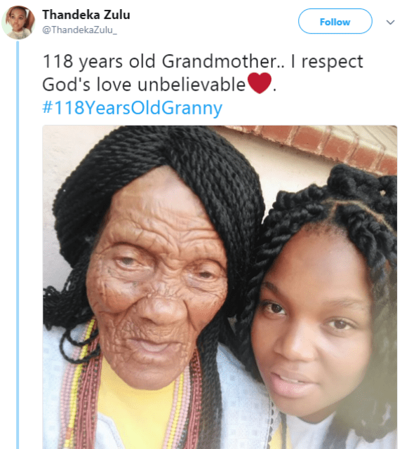 Precious photo of 118-year-old grandma and her great grandchild goes viral