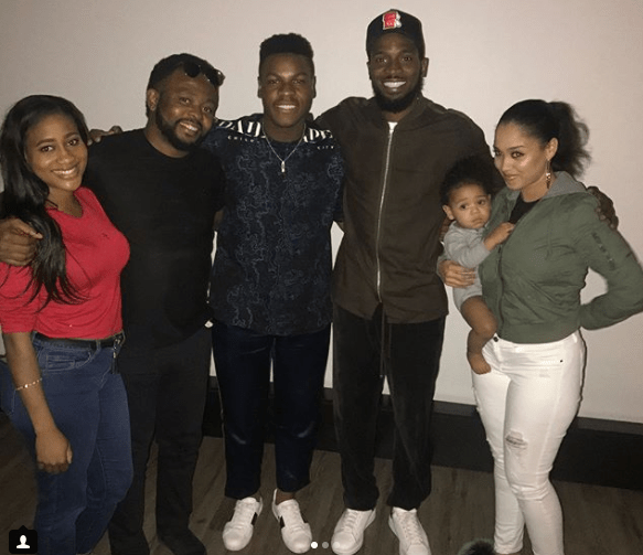 Photos: DBanj, his wife and son Daniel III attend private screening of John Boyega