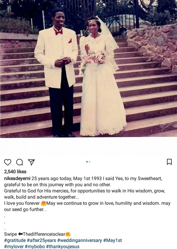 """I love you for eternity"". Pastor Sam Adeyemi celebrates his wife on 25th wedding anniversary"