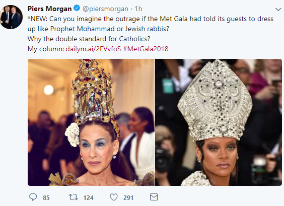 Piers Morgan criticizes Met Gala
