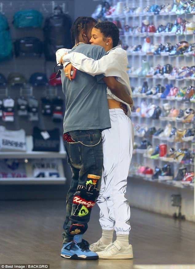 Kylie Jenner & her baby daddy Travis Scott engage in PDA on the streets of New York (photos)