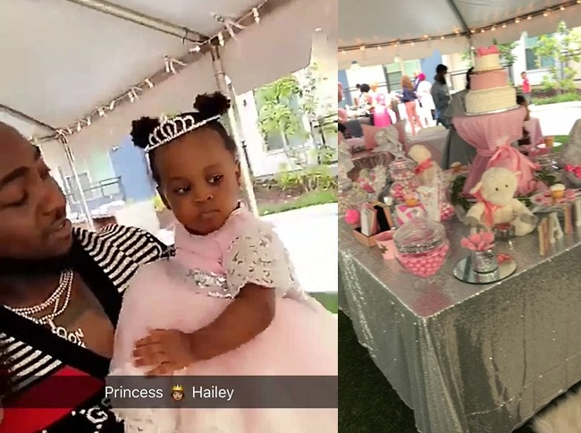 Davido throws 1st birthday party for his daughter, Hailey, in Atlanta (photos)