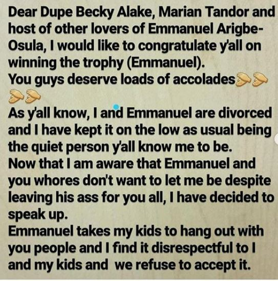 Photos: Mother of two,?Uwaila Agbonson celebrates her divorce and calls out all the side chicks that wrecked her marriage