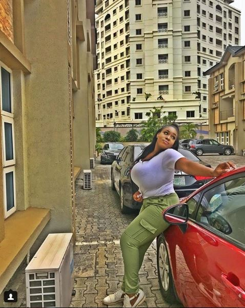 5afc0c124ca37 - Nigerian Plus Size, Busty Model, Eva Kiss Share Tantalizing Photos To Mark End Of Her NYSC Programme