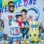 Dbanj and wife,Lineo celebrate their Son,Daniel's first birthday