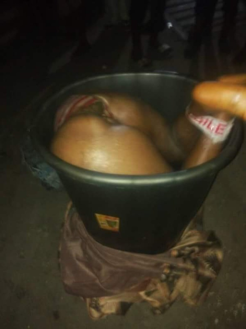 Graphic: Man kills and decapitates girlfriend in Lagos; cuts her body in half and tossed it into trash can