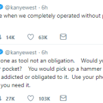 Kanye West Advise People to see their phones as a tool and not an obligation