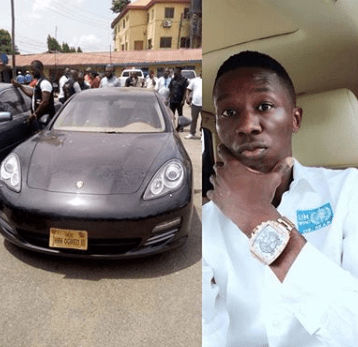 Image result for Police arrest medical doctor who bought N28m Porsche car with fake bank alert, says hacking into Nigerian banks is very easy