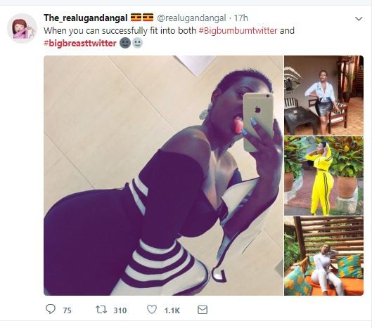 Nigerian ladies join #BigBreastTwitter trend and are they sharing photos of their eye-popping boobs (Photos)