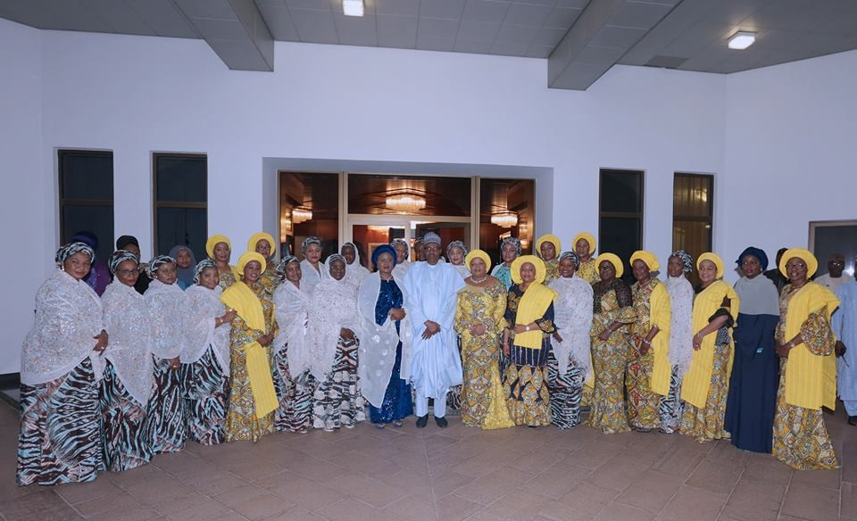 Photos: President Buhari hosts wives of 36 state governors