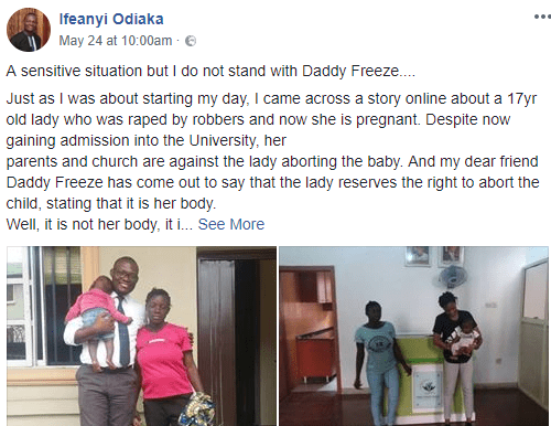 Read the touching story of 19-year-old Nigerian orphan who was gang raped and impregnated by her attackers and refused to abort her baby (photos)