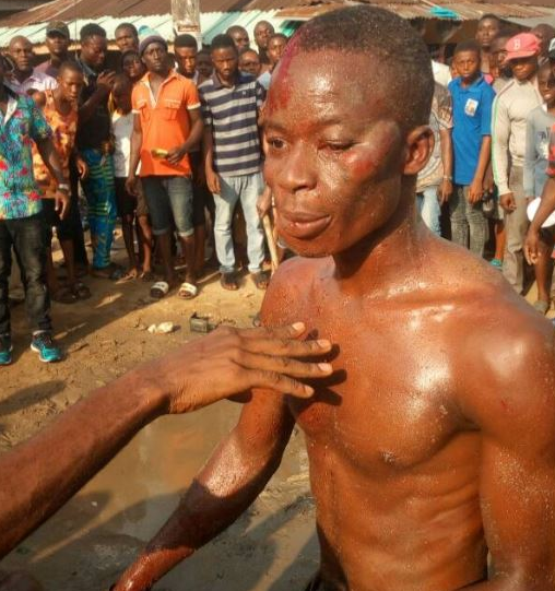 Armed robbers stripped and beaten mercilessly in Rivers (Photos)